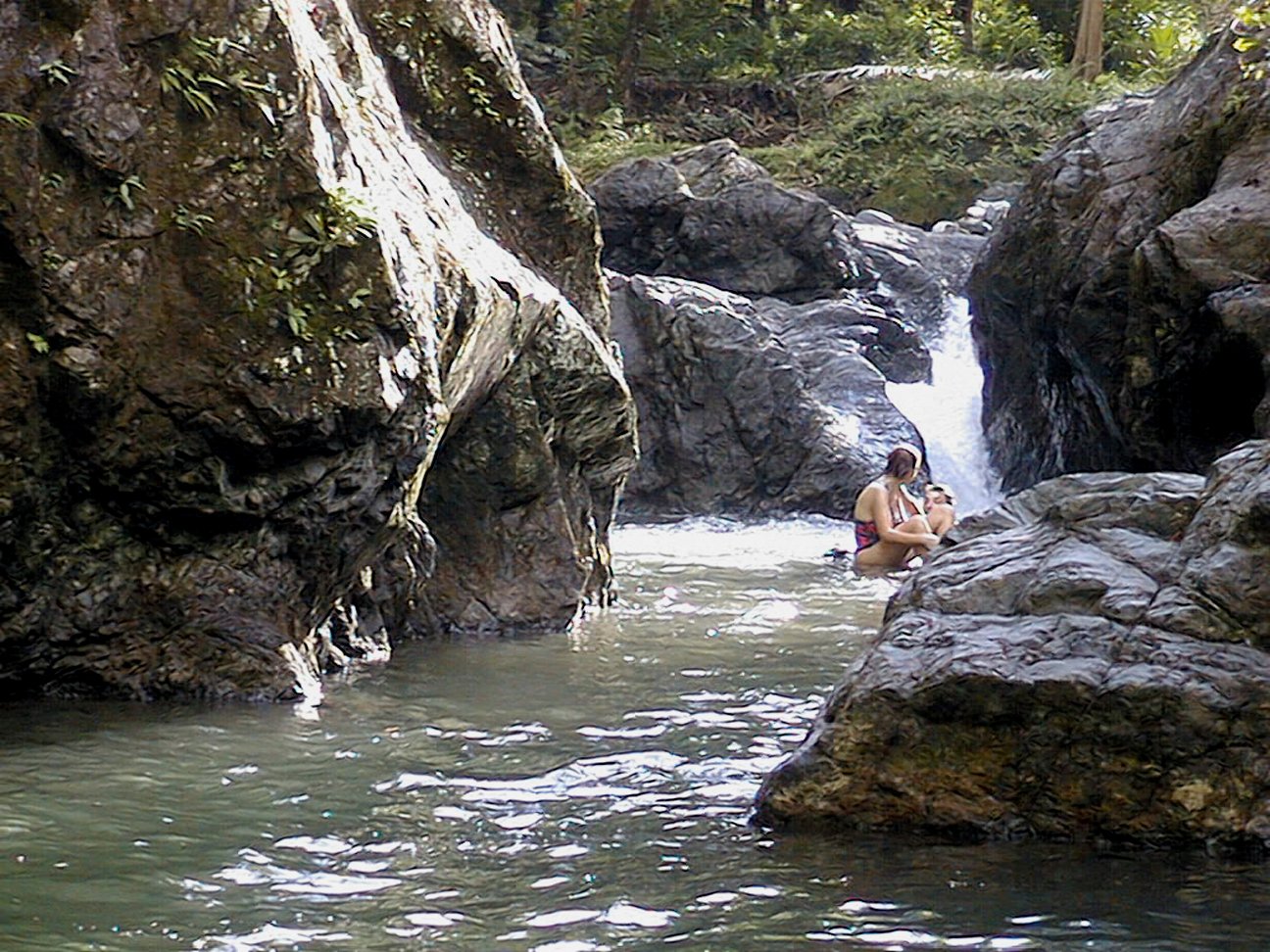 A swimming hole in the Rio Tigre