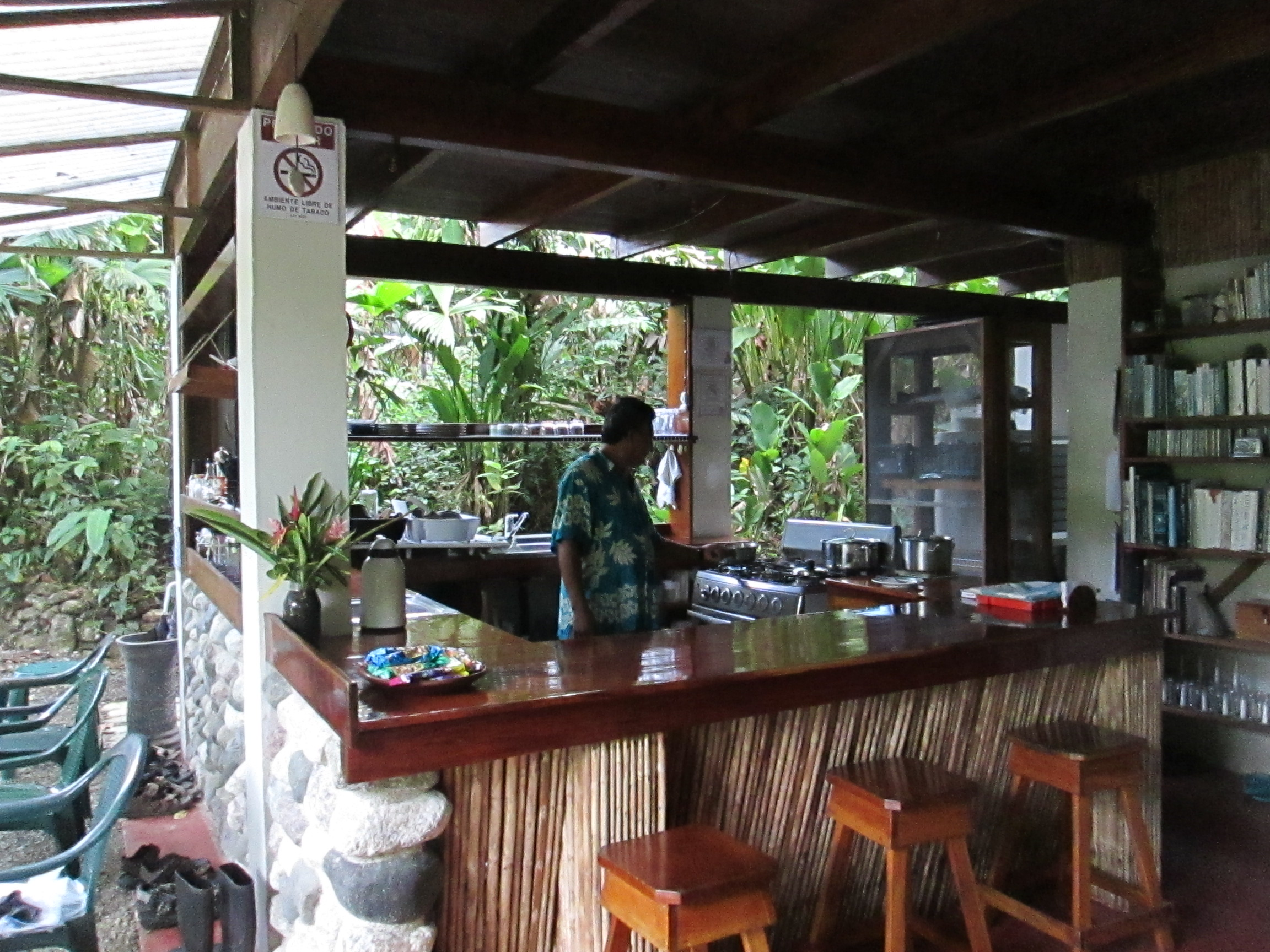 Our lodge's kitchen, which serves up some of the best food on the Osa Peninsula